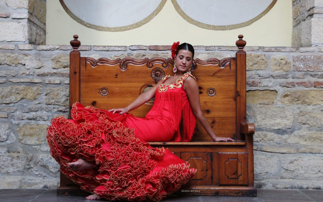 Trajes de flamenca color rojo