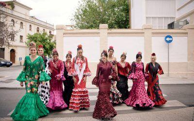 Moda flamenca en los patios de Córdoba