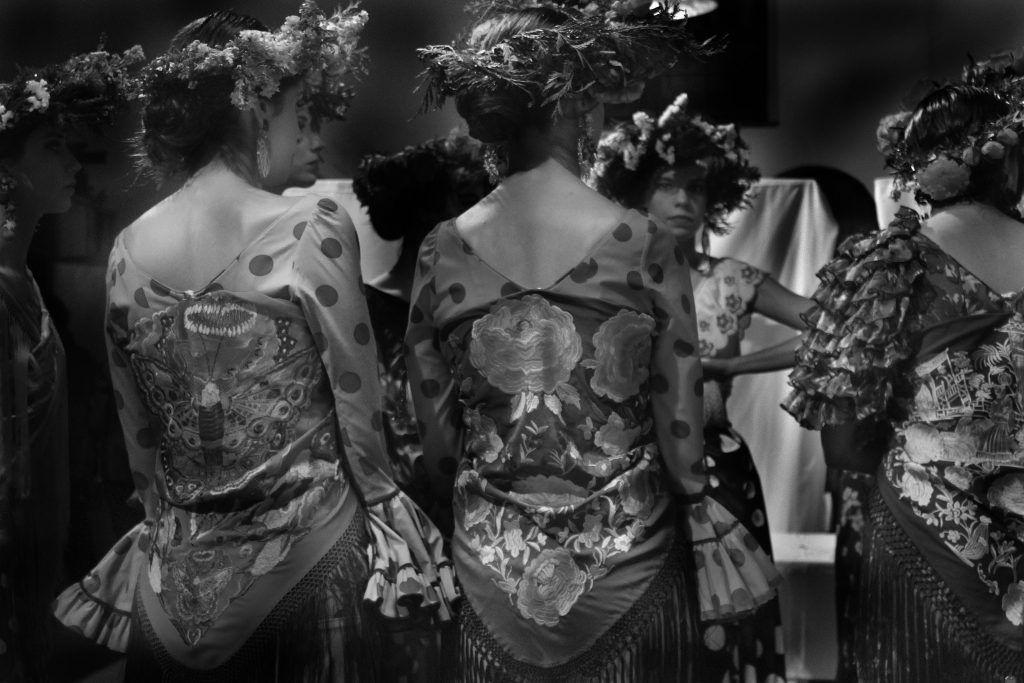 Flamencas en blanco y negro
